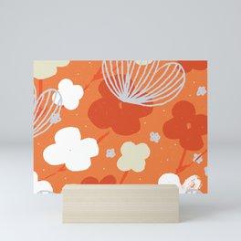 Spring Garden M+M Tangerine by Friztin Mini Art Print