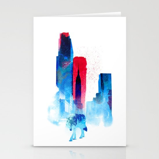 The wolf of the City Stationery Cards
