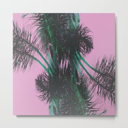 Chroma Palms Metal Print
