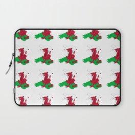Flag of Wales 2 ,uk,great britain,dragon,cymru, welsh,celtic,cymry,cardiff,new port Laptop Sleeve