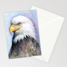 Bald Eagle Watercolor Bird Wildlife Animals Stationery Cards