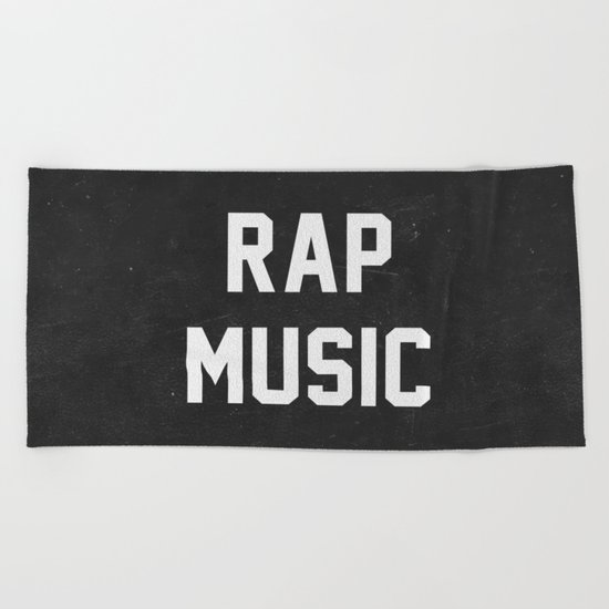 Rap Music Beach Towel