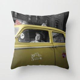 Vintage Taxi 5 Throw Pillow