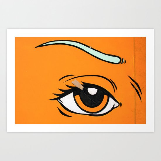 Eye orange 4 Art Print