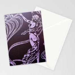 Art nouveau, purple,lavender,naked lady Stationery Cards