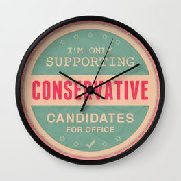 Support Conservatives Wall Clock