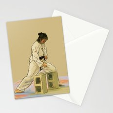 Preparing to Break a Brick Stationery Cards