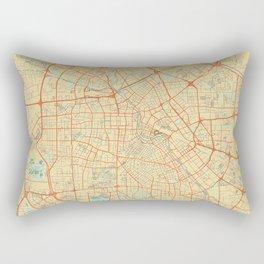 Tianjin Map Retro Rectangular Pillow