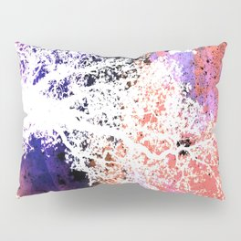 White Trees Colorful Space Pillow Sham