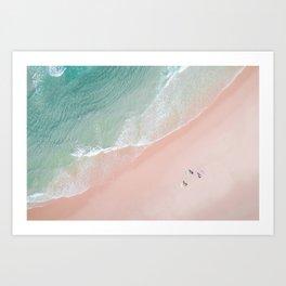 Surf Yoga II Art Print