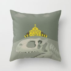 Rex, the King of Dinosaur Throw Pillow