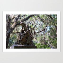 Lady Under the Oaks Art Print