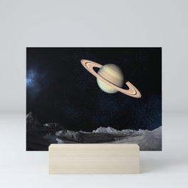 saturn planet Mini Art Print