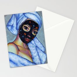 Space mask Stationery Cards