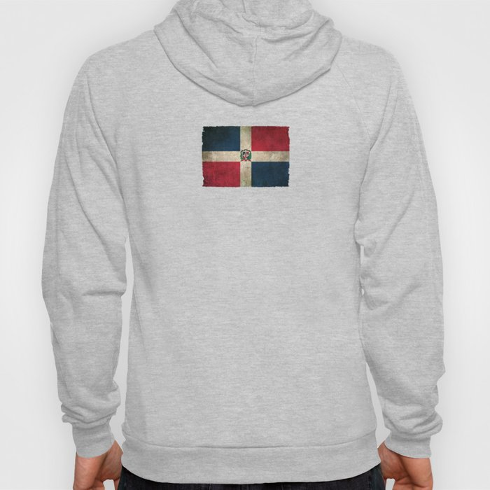 Old and Worn Distressed Vintage Flag of Dominican Republic Hoody