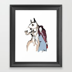 Horse love Framed Art Print