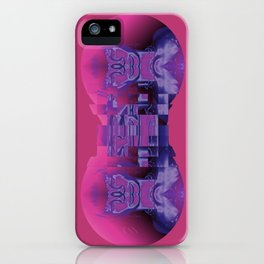 Fractured Portrait in Berry iPhone Case