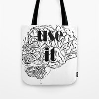 cocaine Tote Bags featuring USE IT by Chrisb Marquez