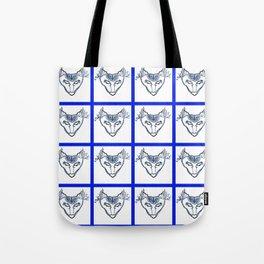 SkyWolf Print Tote Bag