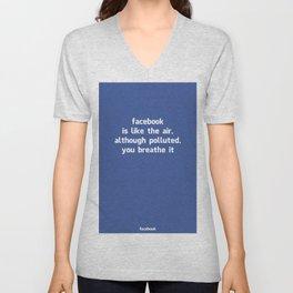 Poster Facebook Unisex V-Neck