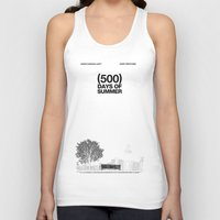 shipping Tank Tops featuring (500) Days of Summer by Martin Lucas
