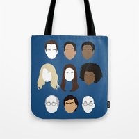 community Tote Bags featuring Community by Bill Pyle