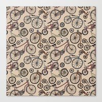 bicycles Canvas Prints featuring Bicycles by Mario Zucca