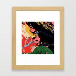 Half past black hour Framed Art Print