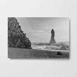 Reynisdrangar. Metal Print