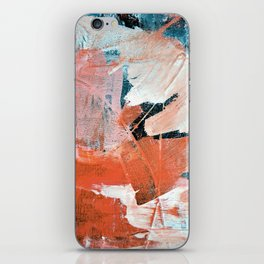 Interrupt [3]: a pretty minimal abstract acrylic piece in pink white and blue by Alyssa Hamilton Art iPhone Skin