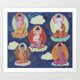 sangha Art Print