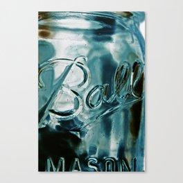 ball mason jar Canvas Print