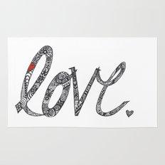 Love Zentangle  Rug
