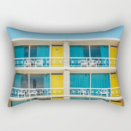 Retro Hotel Print Rectangular Pillow