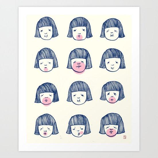 Bubble bubble bubble gum Art Print