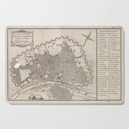 Vintage Map of Lima Peru (1764) Cutting Board