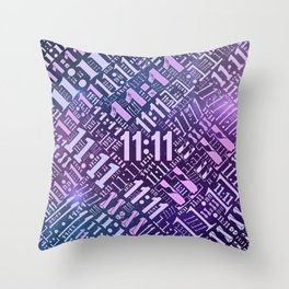 Eleven Eleven Numerology Pattern #3 Throw Pillow