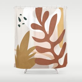 Abstract Plant Life II Shower Curtain