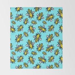 Honey Bee Swarm Throw Blanket