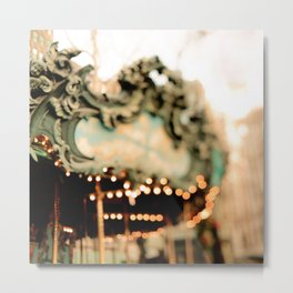 New York Carousel Metal Print