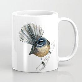 Mr Pīwakawaka, New Zealand native bird fantail Coffee Mug