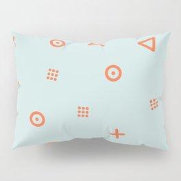 Happy Particles - Light Green Pillow Sham