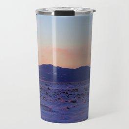 Mountain Sunset in the winter Travel Mug