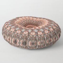 Detailed mandala in brown and peach tones Floor Pillow