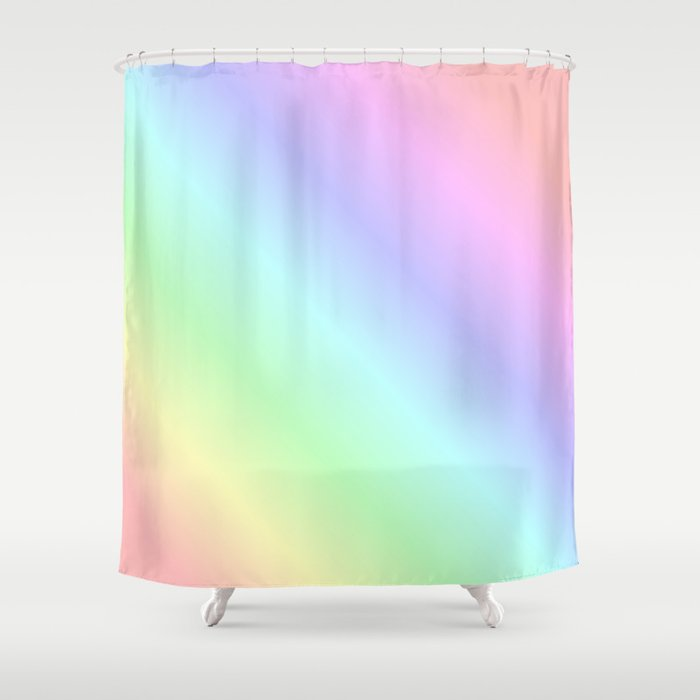 Pastel rainbow Shower Curtain by lifeisbeautiful | Society6