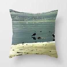 Morning Glitter Throw Pillow