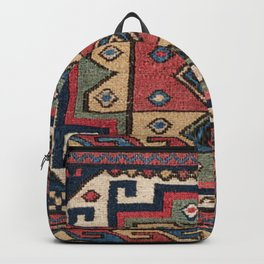 Cowboy Sumakh // 19th Century Colorful Red White Blue Western Lone Star Dallas Ornate Accent Pattern Backpack