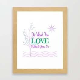Sun Love - White Framed Art Print