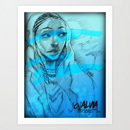 Hints Of Blue  Series1 Art Print