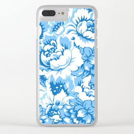 Blue floral Clear iPhone Case